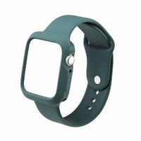Shopclues offers on Mobiles - House Of Quirk Silicone Band Strap And Shock-Proof Case Cover Bumper Compatible With 42Mm Apple Watch Series 1,2,3 ( Watch Not Included) Olive