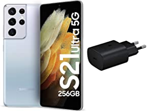 Amazon offers on Mobiles - Samsung Galaxy S21 Ultra 5G (Phantom Silver, 12GB, 256GB Storage) with No Cost EMI/Additional Exchange Offers + Original Samsung 25 W Charger(Black)