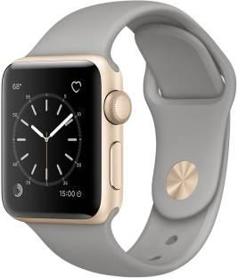 Flipkart offers on Mobiles - APPLE Watch Series 2 - 38 mm Gold Aluminum Case with Concrete Sport Band Grey Strap, Medium