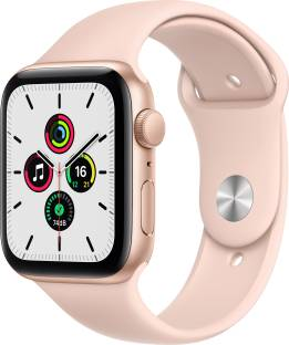 Flipkart offers on Mobiles - APPLE Watch SE GPS 44 mm Gold Aluminium Case with Pink Sand Sport Band Pink Strap, Regular