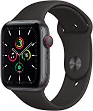 Amazon offers on Mobiles - New Apple Watch SE (GPS + Cellular, 44mm) - Space Grey Aluminium Case with Black Sport Band