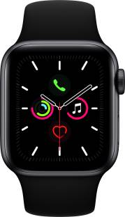 Flipkart offers on Mobiles - APPLE Watch Series 5 GPS + Cellular 40 mm Space Grey Aluminium Case with Black Sport Band Black Strap, Regular