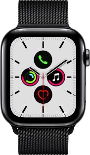 Flipkart offers on Mobiles - APPLE Watch Series 5 GPS + Cellular 44 mm Space Black Stainless Steel Case with Space Black Milanese Loop Black Strap, Regular
