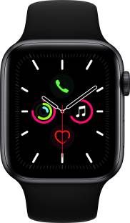 Flipkart offers on Mobiles - APPLE Watch Series 5 GPS 44 mm Space Grey Aluminium Case with Black Sport Band Black Strap, Regular
