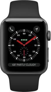 Flipkart offers on Mobiles - APPLE Watch Series 3 GPS + Cellular - 42 mm Space Grey Aluminium Case with Sport Band Black Strap, Regular