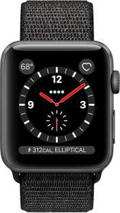 Flipkart offers on Mobiles - APPLE Watch Series 3 GPS + Cellular - 38 mm Space Grey Aluminium Case with Sport Loop Black Strap, Regular