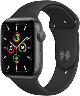 Paytmmall offers on Mobiles - Apple Watch SE GPS 44mm Space Grey Aluminium Case With Black Sport Band - Regular