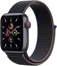 Amazon offers on Mobiles - New Apple Watch SE (GPS + Cellular, 44mm) - Space Grey Aluminium Case with Charcoal Sport Loop