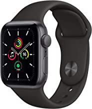 Amazon offers on Mobiles - New Apple Watch SE (GPS, 40mm) - Space Grey Aluminium Case with Black Sport Band