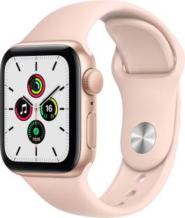 Flipkart offers on Mobiles - APPLE Watch SE GPS 40 mm Gold Aluminium Case with Pink Sand Sport Band Pink Strap, Regular