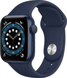 Flipkart offers on Mobiles - APPLE Watch Series 6 GPS 40 mm Blue Aluminium Case with Deep Navy Sport Band Blue Strap, Regular