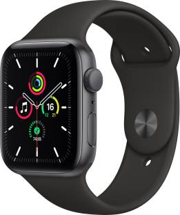 Flipkart offers on Mobiles - APPLE Watch SE GPS 44 mm Space Grey Aluminium Case with Black Sport Band Black Strap, Regular