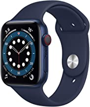 Amazon offers on Mobiles - New Apple Watch Series 6 (GPS + Cellular, 44mm) - Blue Aluminium Case with Deep Navy Sport Band