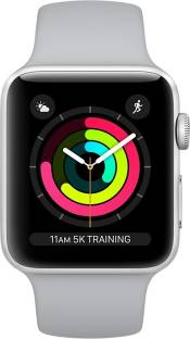 Flipkart offers on Mobiles - APPLE Watch Series 3 GPS + Cellular - 38 mm Silver Aluminium Case with Fog Sport Band Grey Strap, Regular