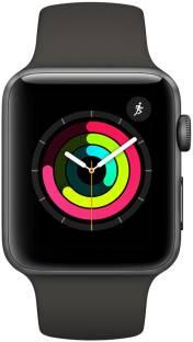 Flipkart offers on Mobiles - APPLE Watch Series 3 GPS - 38 mm Space Grey Aluminium Case with Grey Sport Band Grey Strap, Regular