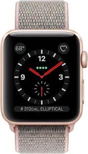 Flipkart offers on Mobiles - APPLE Watch Series 3 GPS + Cellular - 38 mm Gold Aluminium Case with Sport Loop Pink Strap, Regular