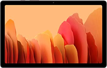 Amazon offers on Mobiles - Samsung Galaxy Tab A7 26.31 cm (10.4 inch), Slim Metal Body, Quad Speakers with Dolby Atmos, RAM 3 GB, ROM 32 GB Expandable, Wi-Fi+4G, Gold