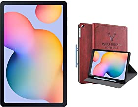Amazon offers on Mobiles - Samsung Galaxy Tab S6 Lite 26.31 cm (10.4 inch), S-Pen in Box, Slim and Light, Dolby Atmos Sound, 4 GB RAM, 64 GB ROM, Wi-Fi+LTE,Oxford Grey + Cover