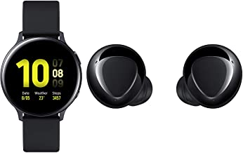 Amazon offers on Mobiles - Samsung Galaxy Watch Active 2 (Bluetooth, 44 mm) - Black, Aluminium Dial, Silicon Straps with Buds+