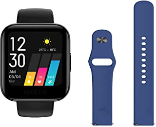 Amazon offers on Mobiles - Realme Classic Watch (Black) + Additional Fashion Strap (Blue)