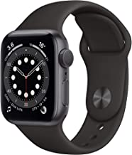 Amazon offers on Mobiles - New Apple Watch Series 6 (GPS, 40mm) - Space Grey Aluminium Case with Black Sport Band