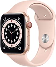 Amazon offers on Mobiles - New Apple Watch Series 6 (GPS + Cellular, 44mm) - Gold Aluminium Case with Pink Sand Sport Band