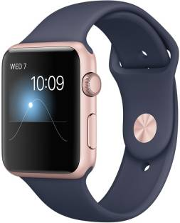 Flipkart offers on Mobiles - APPLE Watch Series 2 - 42 mm Rose Gold Case with Midnight Blue Sports Band Blue Strap, Medium