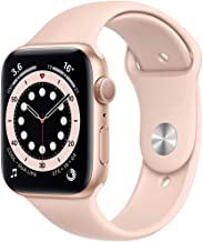 Amazon offers on Mobiles - New Apple Watch Series 6 (GPS, 44mm) - Gold Aluminium Case with Pink Sand Sport Band