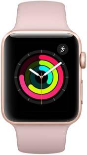 Flipkart offers on Mobiles - APPLE Watch Series 3 GPS - 38 mm Gold Aluminium Case with Pink Sand Sport Band Pink Strap, Regular