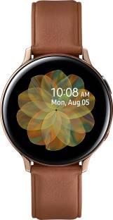 Flipkart offers on Mobiles - SAMSUNG Galaxy Watch Active 2 Steel LTE Smartwatch Brown Strap, Regular