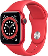 Amazon offers on Mobiles - New Apple Watch Series 6 (GPS, 40mm) - Product(RED) - Aluminium Case with Product(RED) - Sport Band