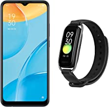 """Amazon offers on Mobiles - OPPO A15 (Dynamic Black, 2GB RAM, 32GB Storage) + OPPO Smart Band Style (Black) - 1.1"""" AMOLED Color Display, SPO2 Monitoring, 5 ATM, 12 Workout Modes"""