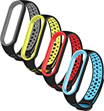 Amazon offers on Mobiles - CROSSVOLT Adjustable Strap Combo for Xiaomi Mi Band 5 / Mi Band 6 - Set of 4