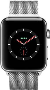 Flipkart offers on Mobiles - APPLE Watch Series 3 GPS + Cellular - 38 mm Stainless Steel Case with Milanese Loop Silver Strap, Regular