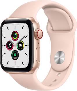 Flipkart offers on Mobiles - APPLE Watch SE GPS + Cellular 40 mm Gold Aluminium Case with Pink Sand Sport Band Pink Strap, Regular