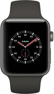 Flipkart offers on Mobiles - APPLE Watch Edition Series 3 GPS + Cellular- 42 mm Gray Ceramic Case with Sport Band Black Strap, Regular