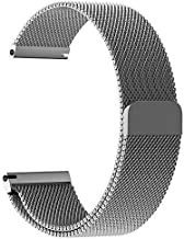 Amazon offers on Mobiles - Lilypinlife 20MM Stainless Steel Milanese Magnetic Strap Band for Samsung Watch (42MM)/ Active/Active 2/ Gear Sport, Amazfit BIP/Lite, Ticwatch 2, Moto 360 Watch, LG Watch Sport (Silver)