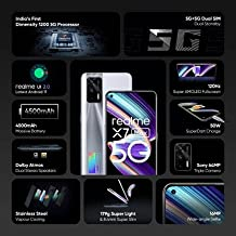 Amazon offers on Mobiles - realme X7 Max 5G (Mercury Silver, 128 GB) (8 GB RAM)