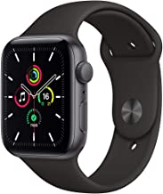 Amazon offers on Mobiles - New Apple Watch SE (GPS, 44mm) - Space Grey Aluminium Case with Black Sport Band