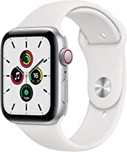 Amazon offers on Mobiles - New Apple Watch SE (GPS + Cellular, 44mm) - Silver Aluminium Case with White Sport Band