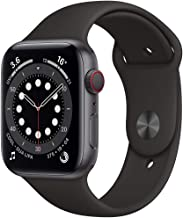Amazon offers on Mobiles - New Apple Watch Series 6 (GPS + Cellular, 44mm) - Space Grey Aluminium Case with Black Sport Band