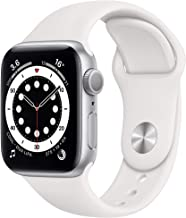 Amazon offers on Mobiles - New Apple Watch Series 6 (GPS, 40mm) - Silver Aluminium Case with White Sport Band