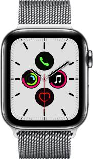 Flipkart offers on Mobiles - APPLE Watch Series 5 GPS + Cellular 44 mm Stainless Steel Case with Stainless Steel Milanese Loop Silver Strap, Regular