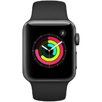Shopclues offers on Mobiles - Apple Watch Series 3 (GPS, 42mm) - Space Gray Aluminium Case with Black Sport Band