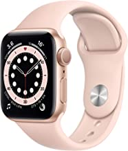 Amazon offers on Mobiles - New Apple Watch Series 6 (GPS, 40mm) - Gold Aluminium Case with Pink Sand Sport Band