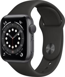 Flipkart offers on Mobiles - APPLE Watch Series 6 GPS 40 mm Space Grey Aluminium Case with Black Sport Band Black Strap, Regular
