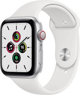 Flipkart offers on Mobiles - APPLE Watch SE GPS + Cellular 44 mm Silver Aluminium Case with White Sport Band White Strap, Regular