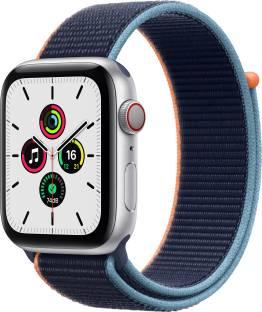 Flipkart offers on Mobiles - APPLE Watch SE GPS + Cellular 44 mm Silver Aluminium Case with Deep Navy Sport Loop Blue Strap, Regular