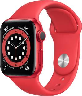 Flipkart offers on Mobiles - APPLE Watch Series 6 GPS 40 mm Red Aluminium Case with Product (Red) Sport Band Red Strap, Regular