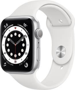 Flipkart offers on Mobiles - APPLE Watch Series 6 GPS 44 mm Silver Aluminium Case with White Sport Band White Strap, Regular